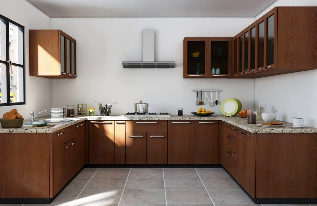 U-Shaped Modular Kitchen