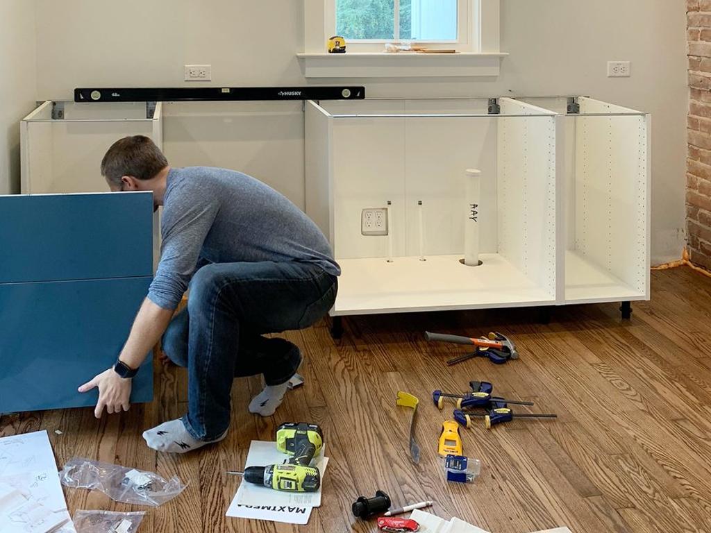 Kitchen with appliances installed