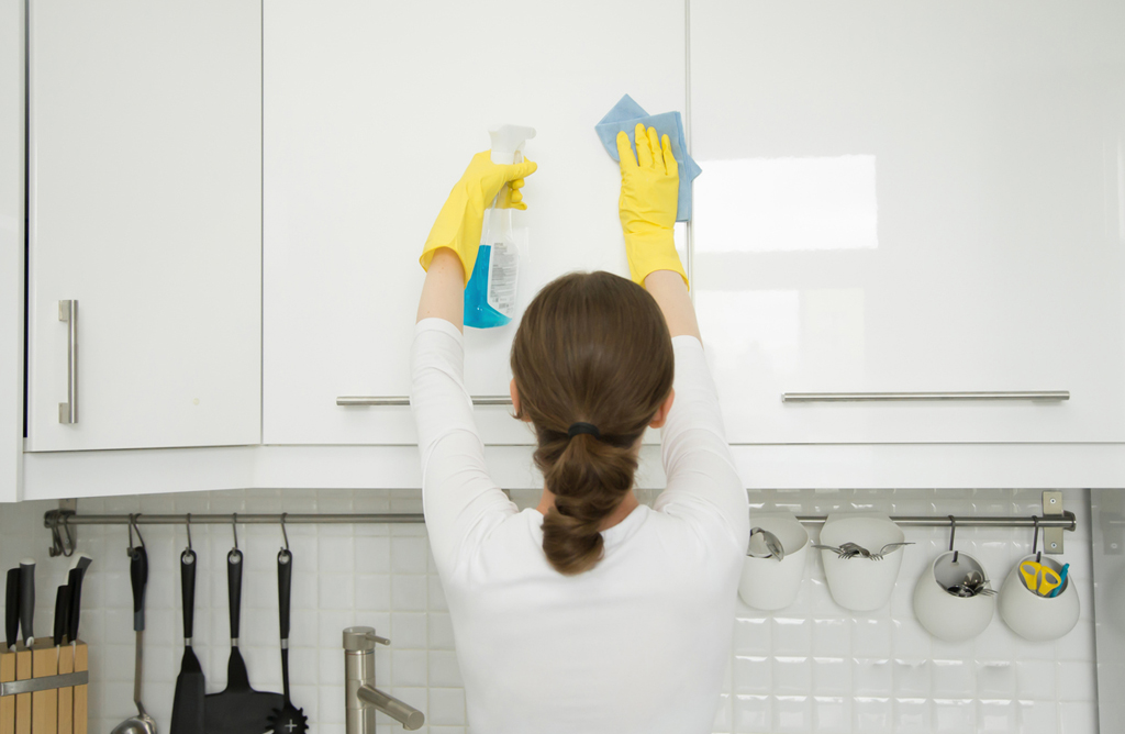 cleaning kitchen doors